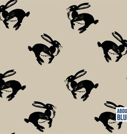About Blue Fabrics French Terry - Run bunny run