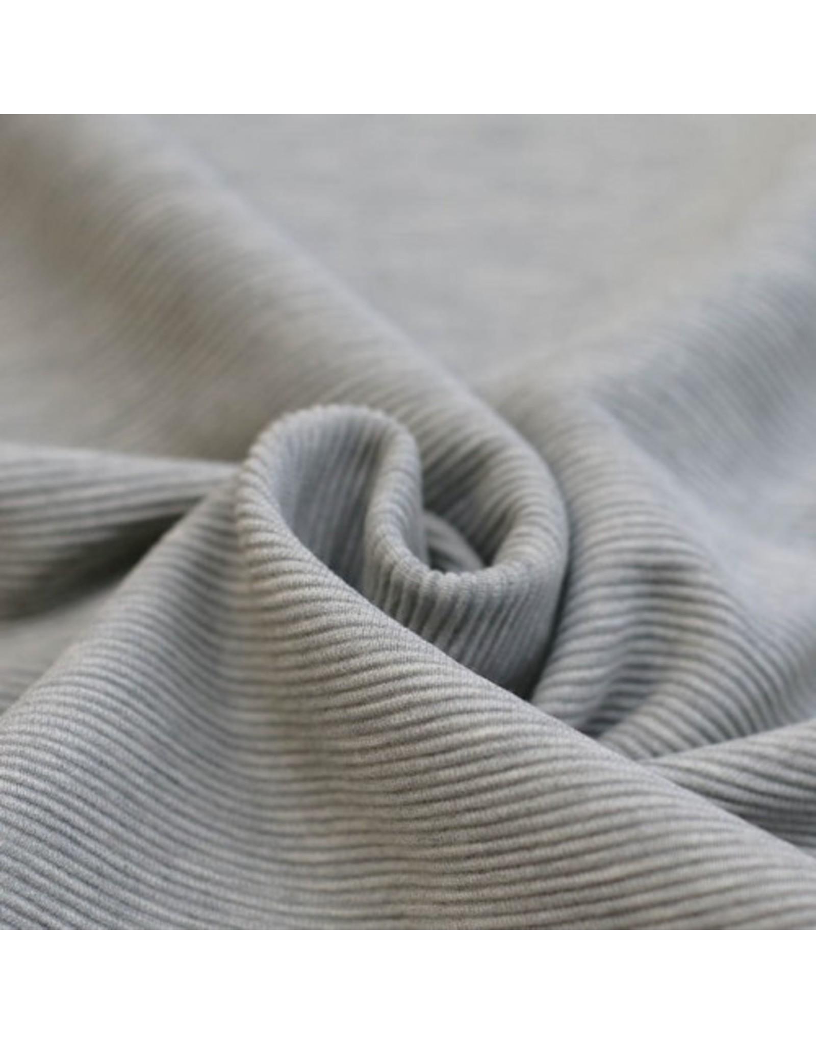Stik-Stof Ottoman rib jersey grijs