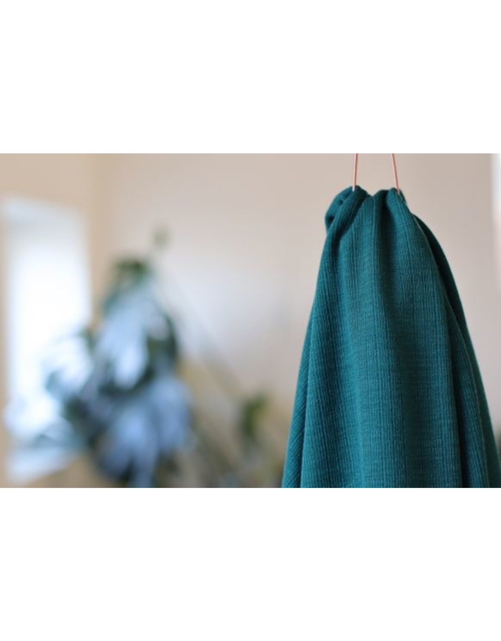 Mind The Maker Viscose Trim Knit - Tropic Green COUPON 80 cm