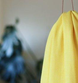Mind The Maker Viscose trim knit flashing yellow COUPON 45 cm