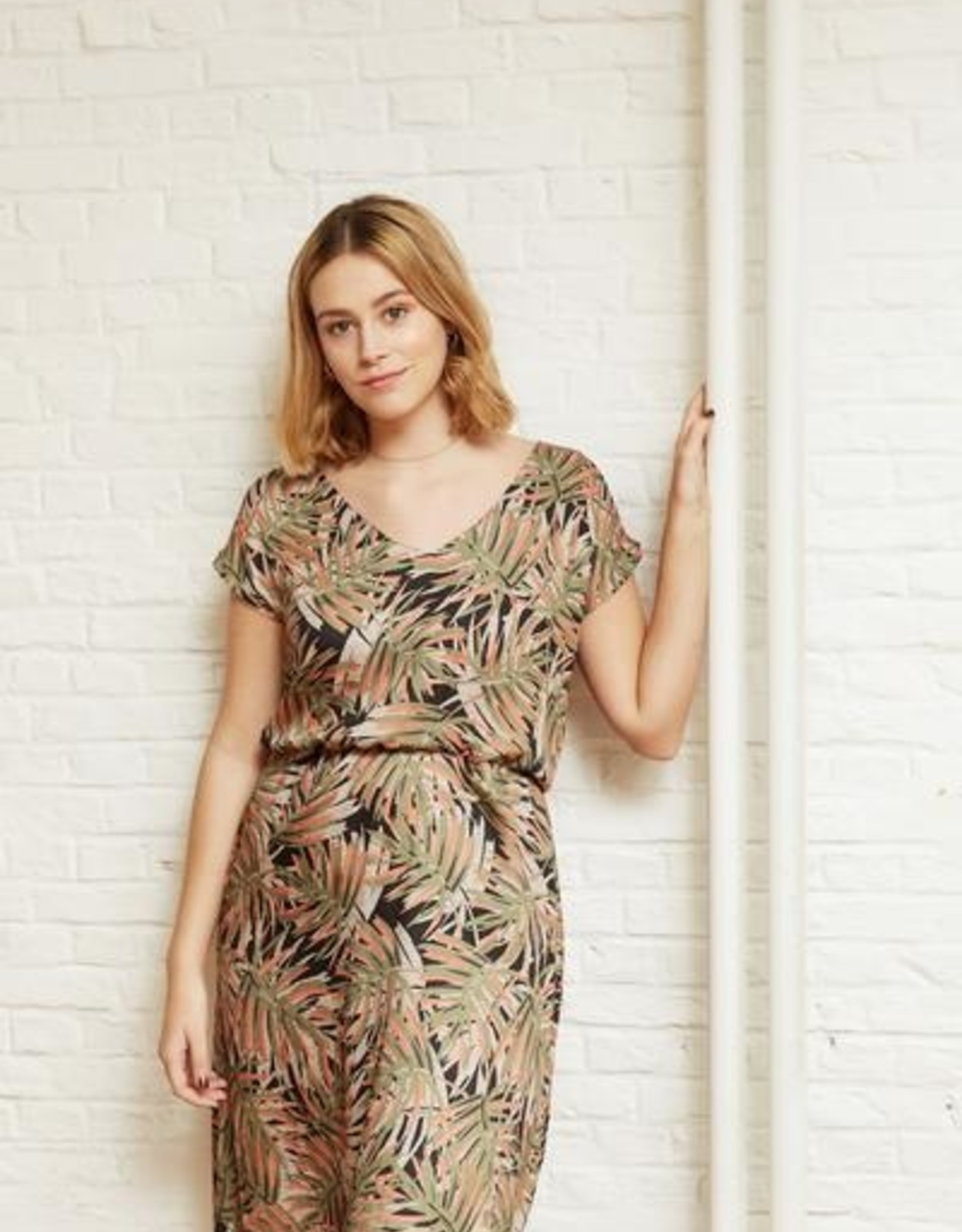 Atelier Jupe Viscose with plant