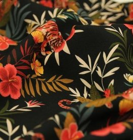 Atelier Jupe Viscose with colorful jungle