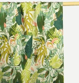 Atelier Jupe White Viscose with tropical print COUPON 1.70 m