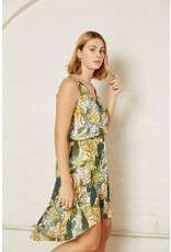 Atelier Jupe White Viscose with tropical print