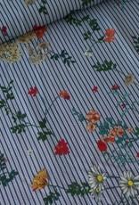 Stik-Stof Flower Stripes COUPON 1.50 meter