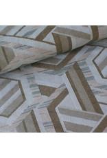 Stik-Stof Jacquard geometrisch