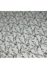 Stik-Stof Paard zwart/ gebroken wit