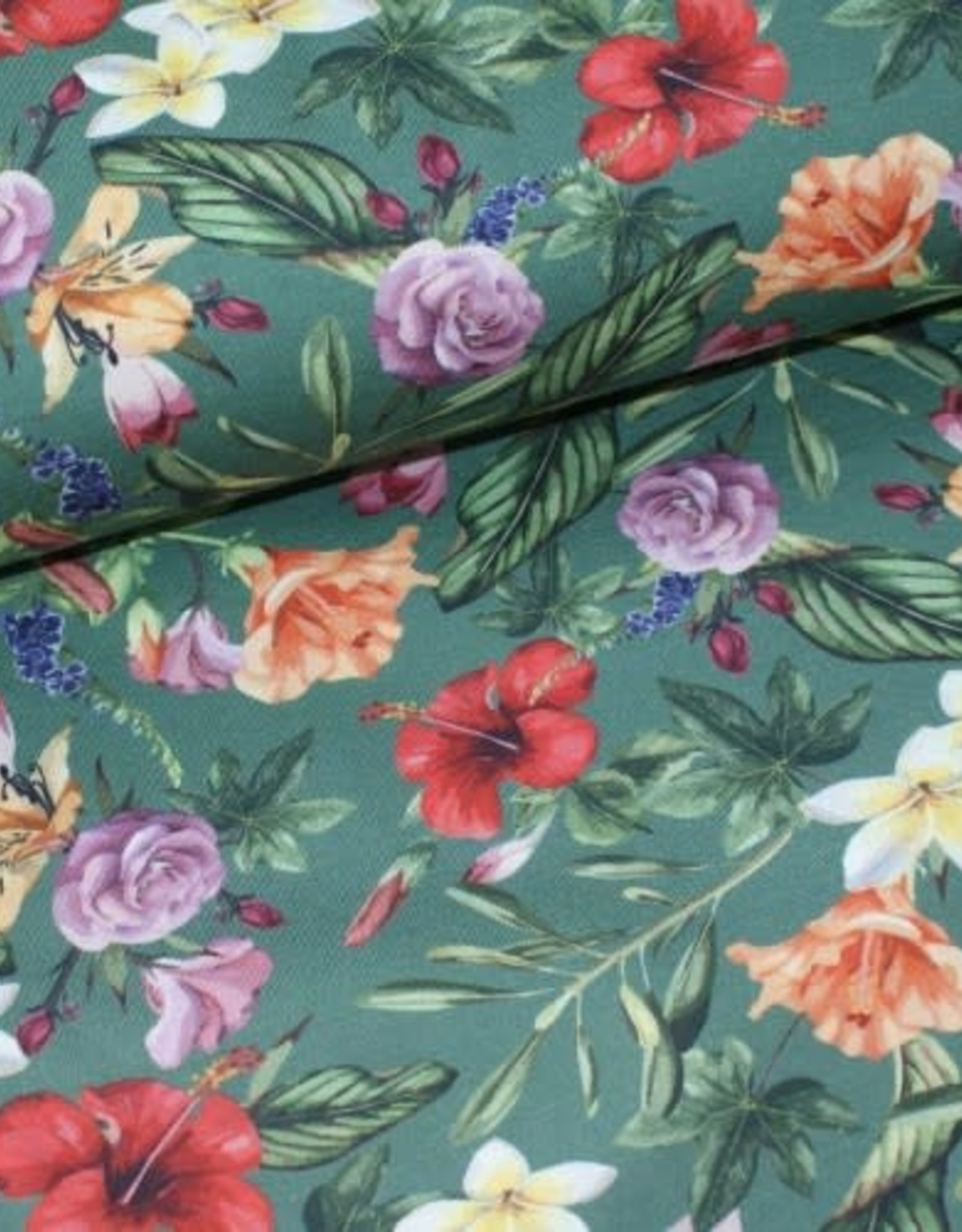 Megan Blue Dark old green bloem
