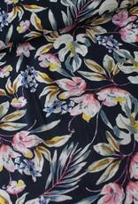 Polytex Digitale flower blauw/roze  COUPON 90 cm