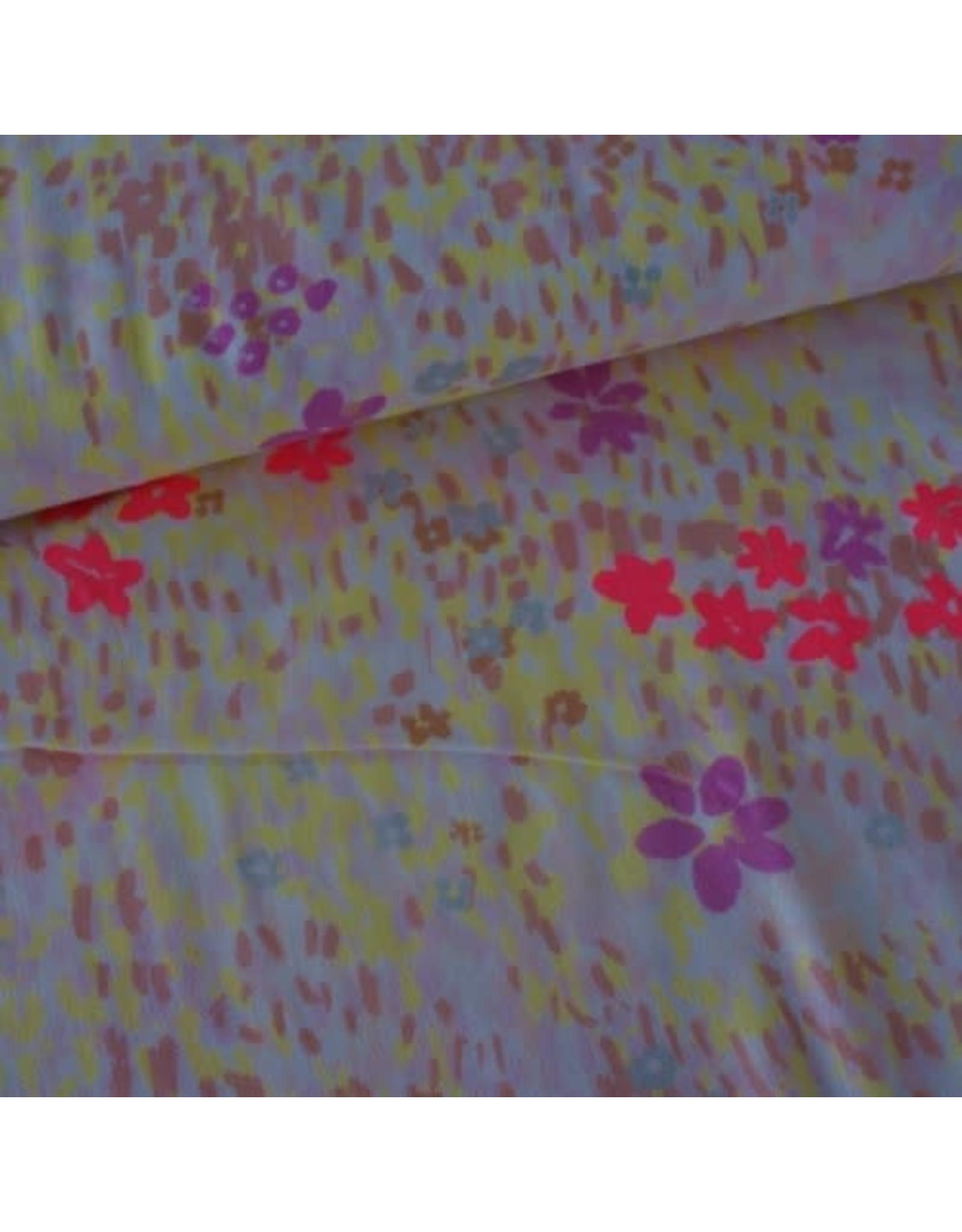 Rico Design Double gauze flower meadow neon