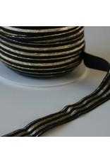Restyle Elastiek zwart/goud 20 mm