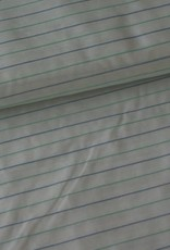 Stik-Stof Fijn groene/blauwe streep