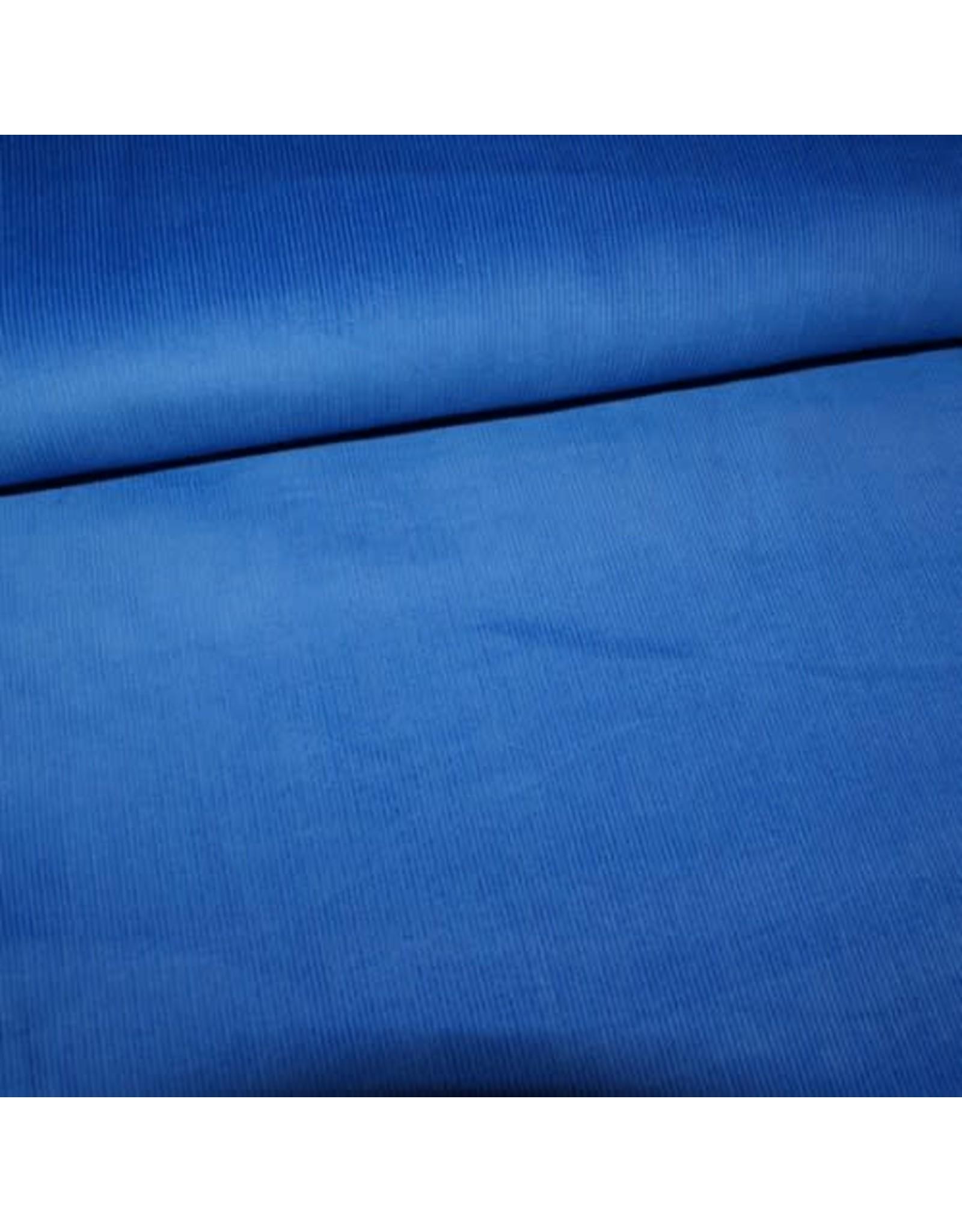 Stik-Stof Fijne ribfluweel koningsblauw