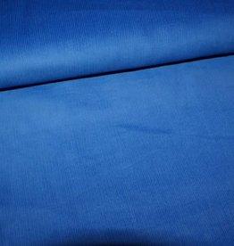Stik-Stof Fijne ribfluweel koningsblauw COUPON 1.30 meter