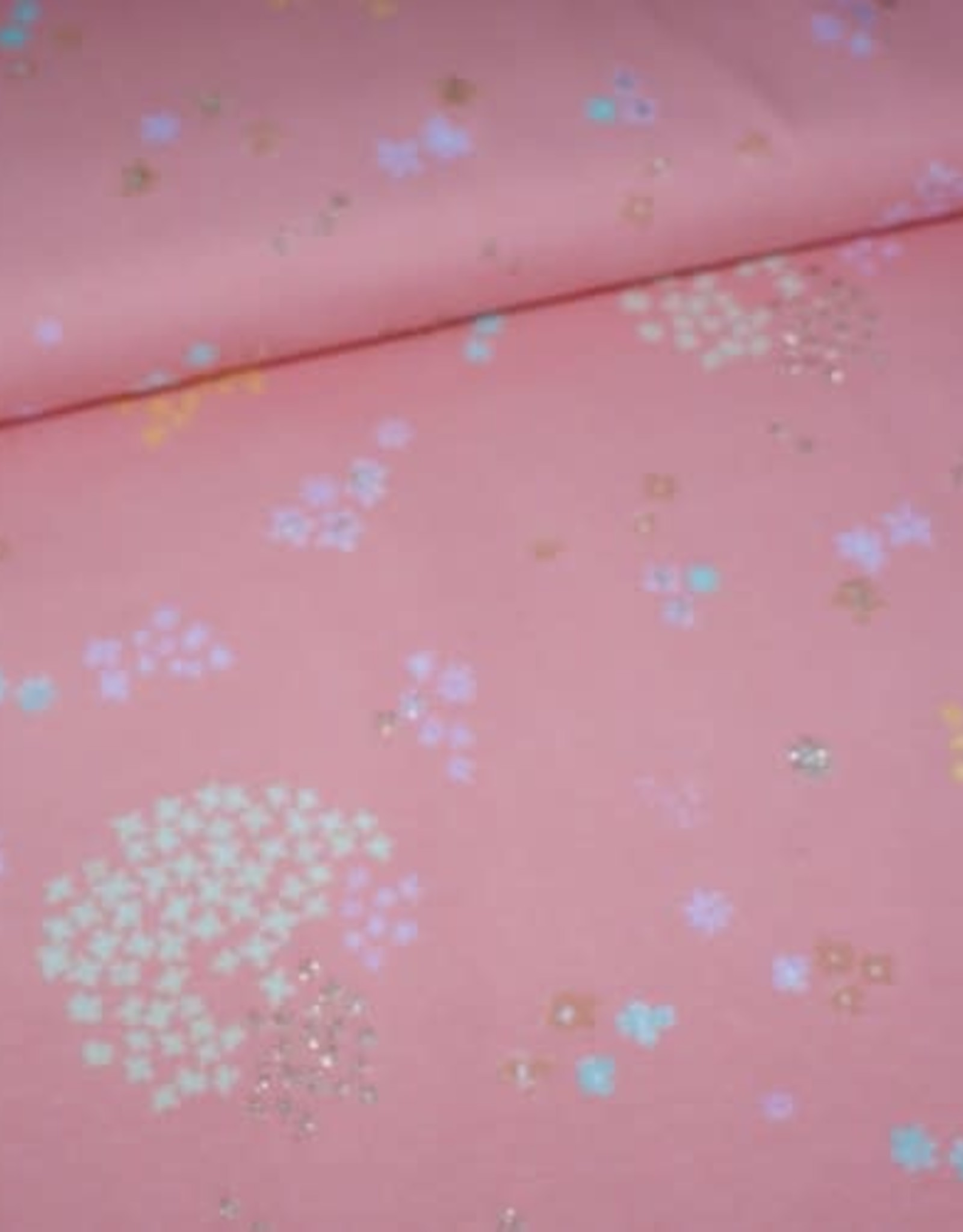 Rico Design Flowers metallic roze