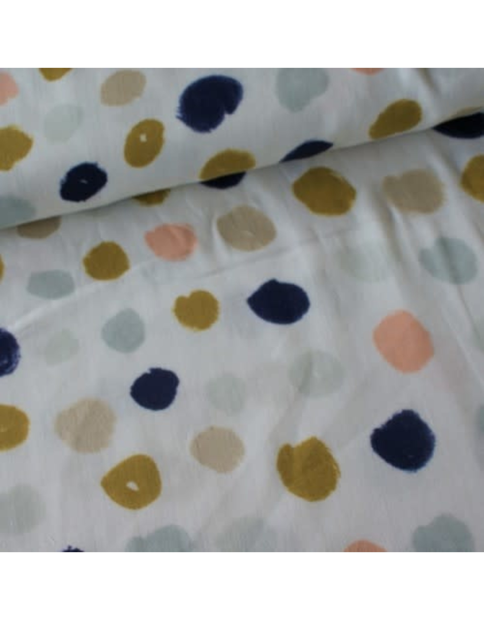 Rico Design Grey big dots metallic