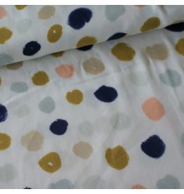 Rico Design Grey big dots metallic