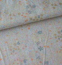 Rico Design Grey flower meadow metallic