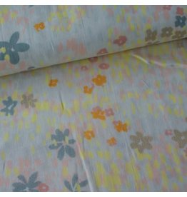 Rico Design Grey flower meadow metallic