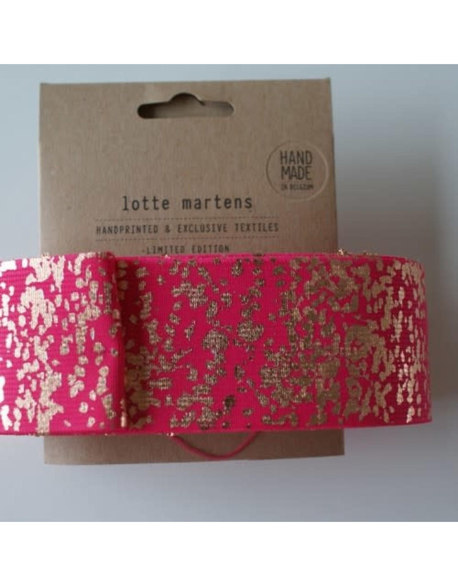 Lotte Martens Hand bedrukte elastiek fuschia