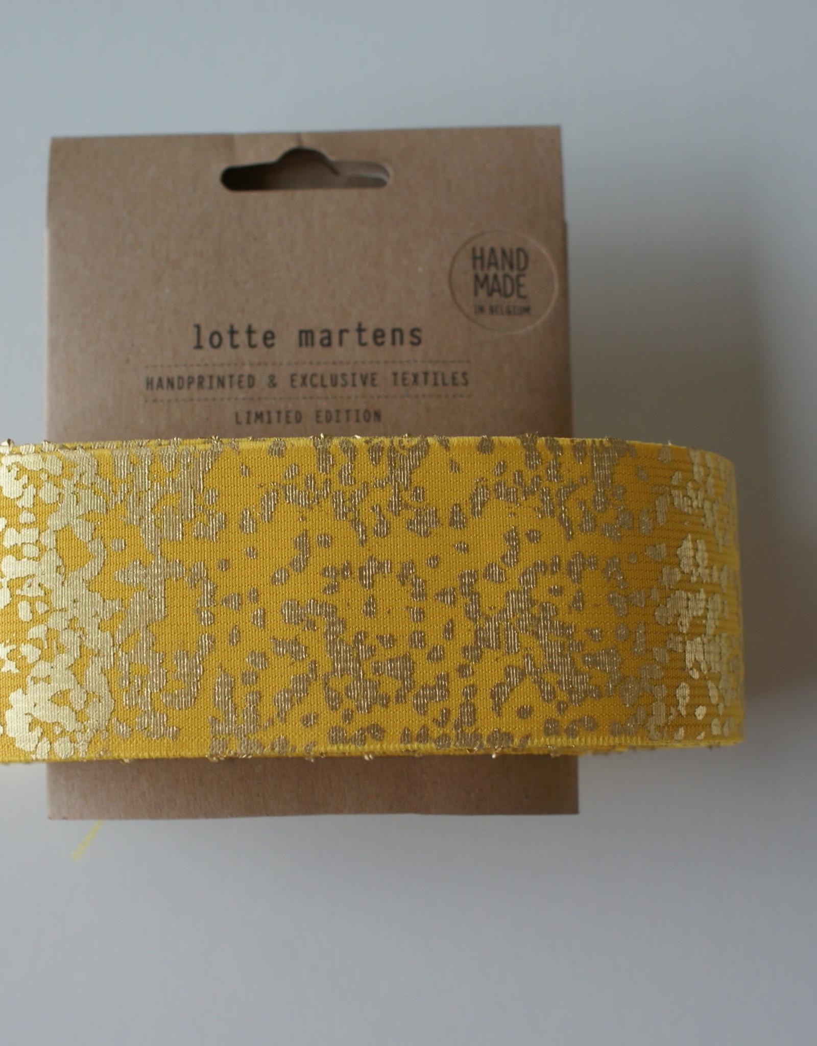 Lotte Martens Hand bedrukte elastiek geel