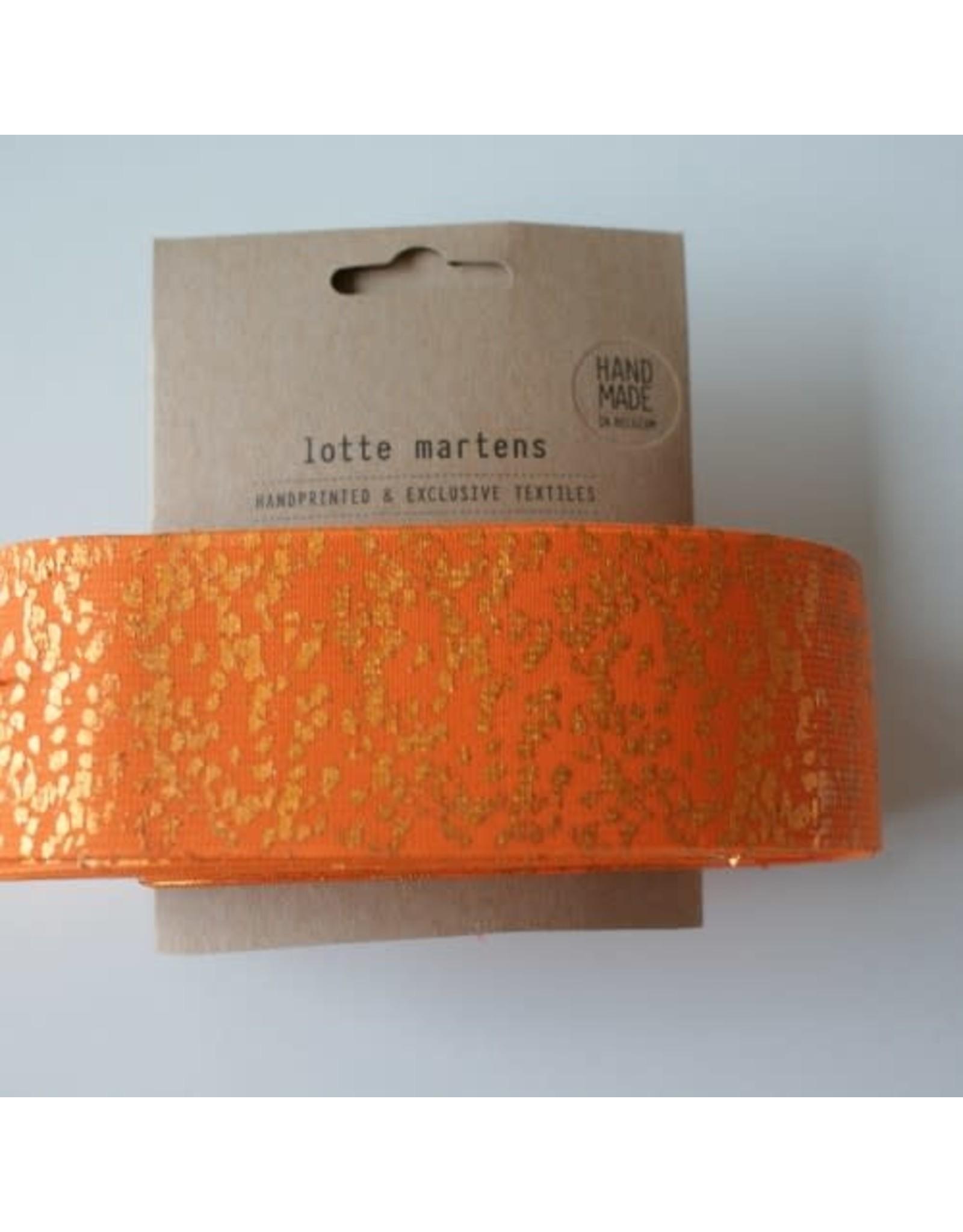 Lotte Martens Hand bedrukte elastiek oranje