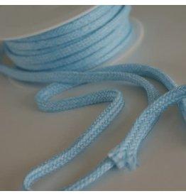 Stik-Stof Hoodie koord melange licht blauw