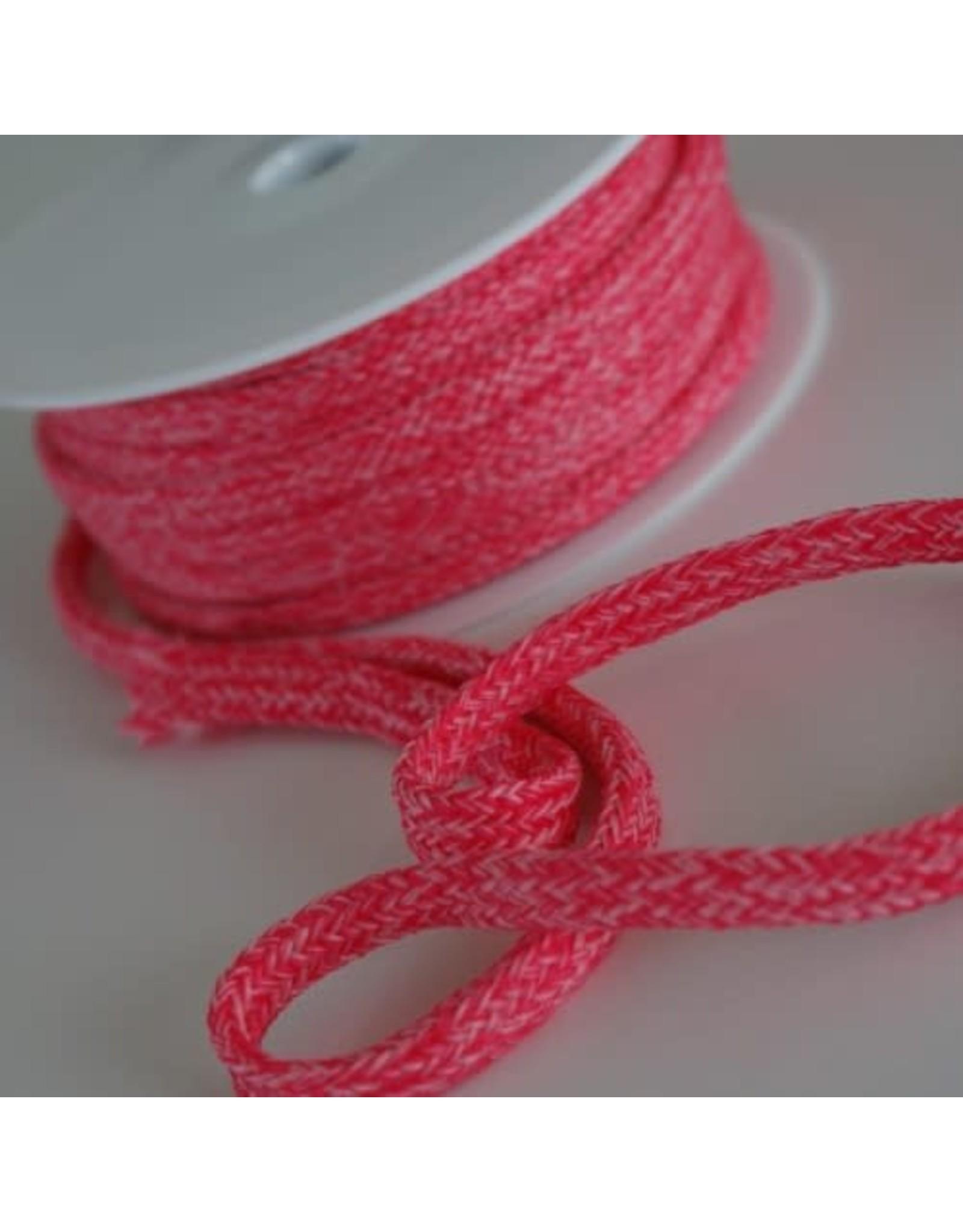 Stik-Stof Hoodie koord melange roze
