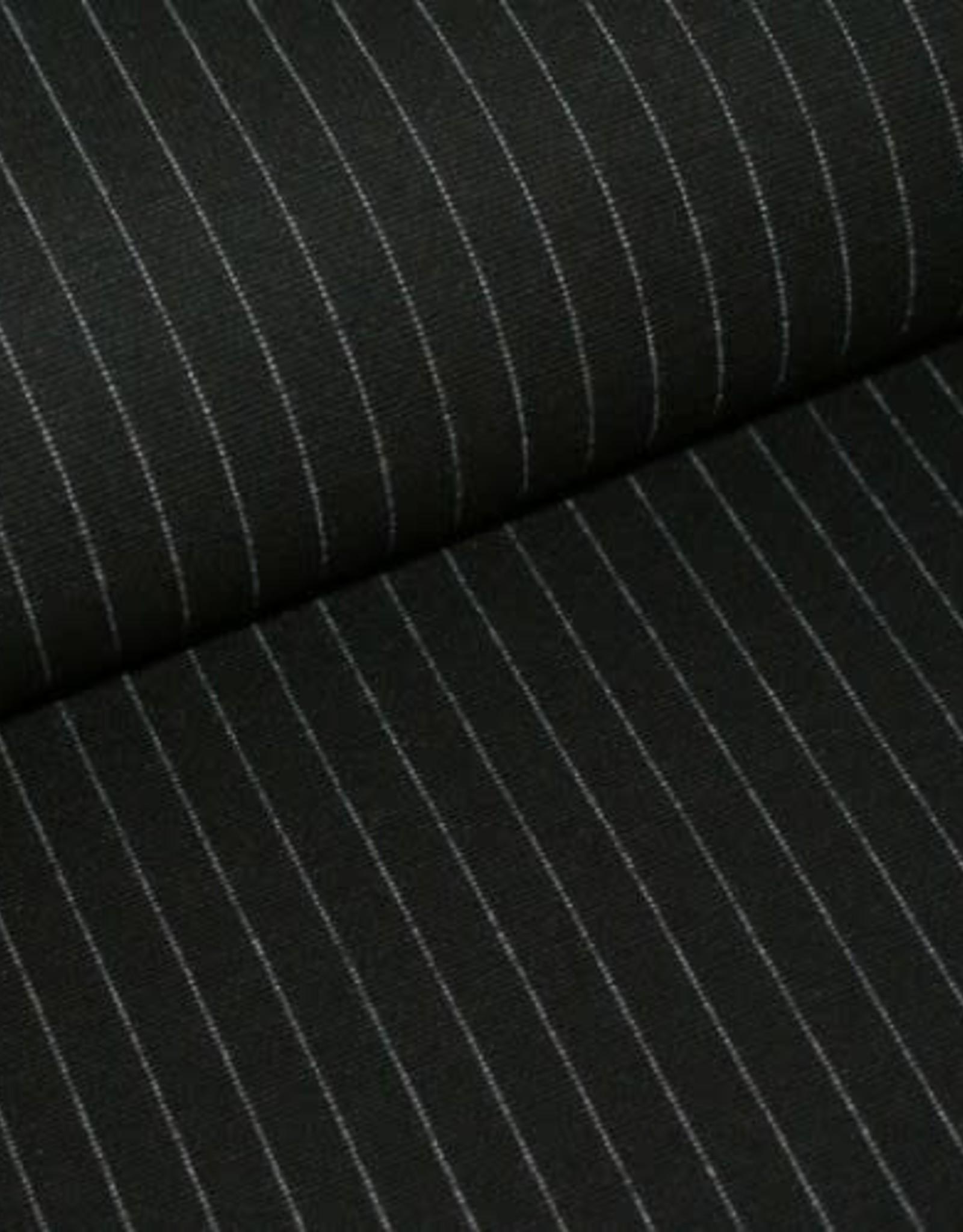 Polytex Knit stripe zwart/wit streep