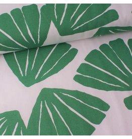 Rico Design Leaves groen/wit