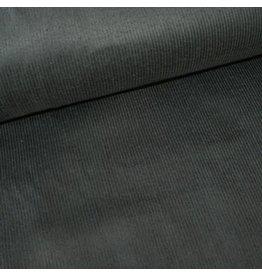 Stik-Stof Ribfluweel stretch antraciet grijs