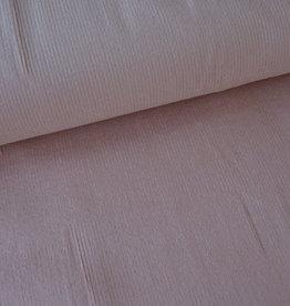 Stik-Stof Ribfuweel stretch oud roze