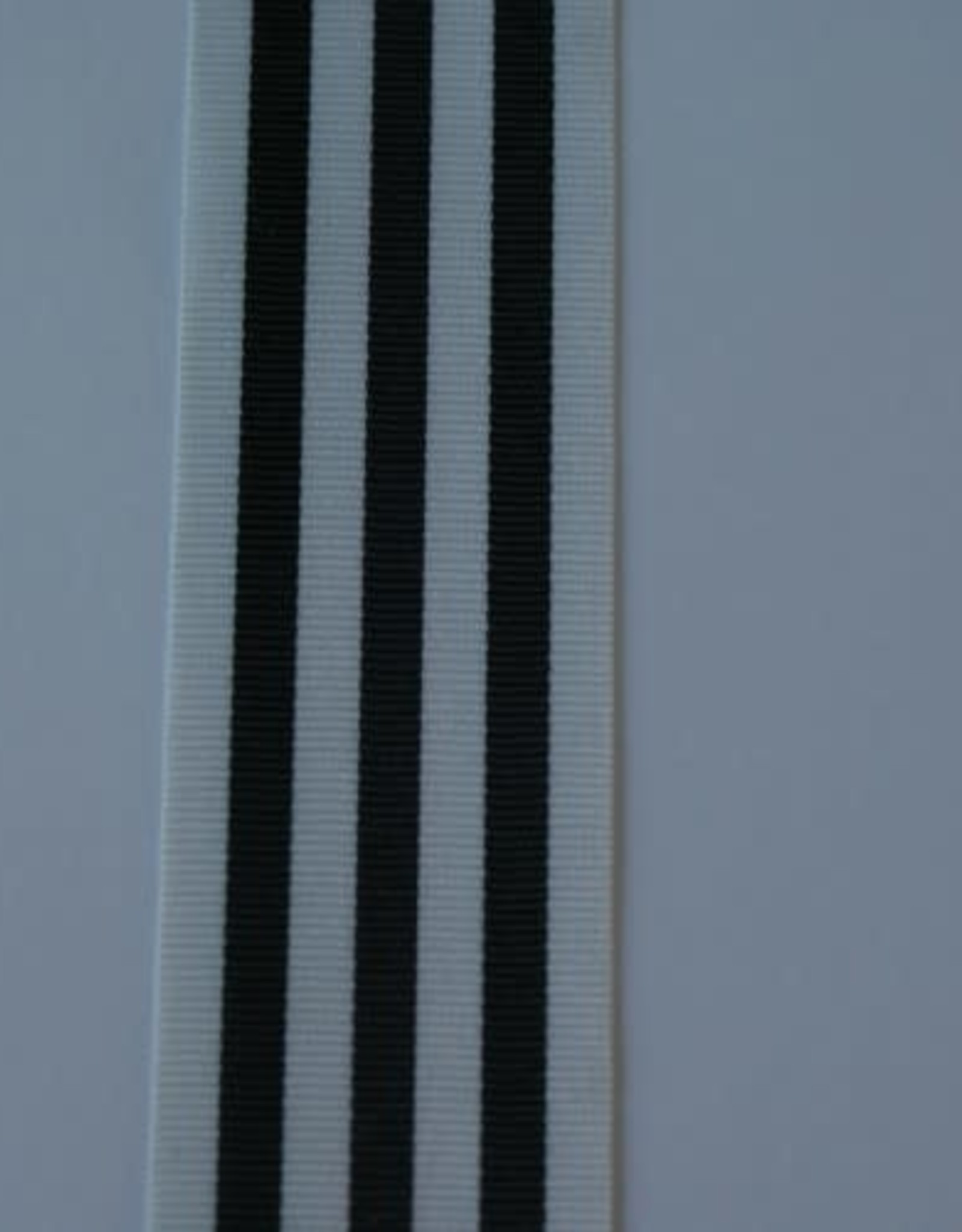 Stik-Stof Ripsband mono color zwart wit 35 mm