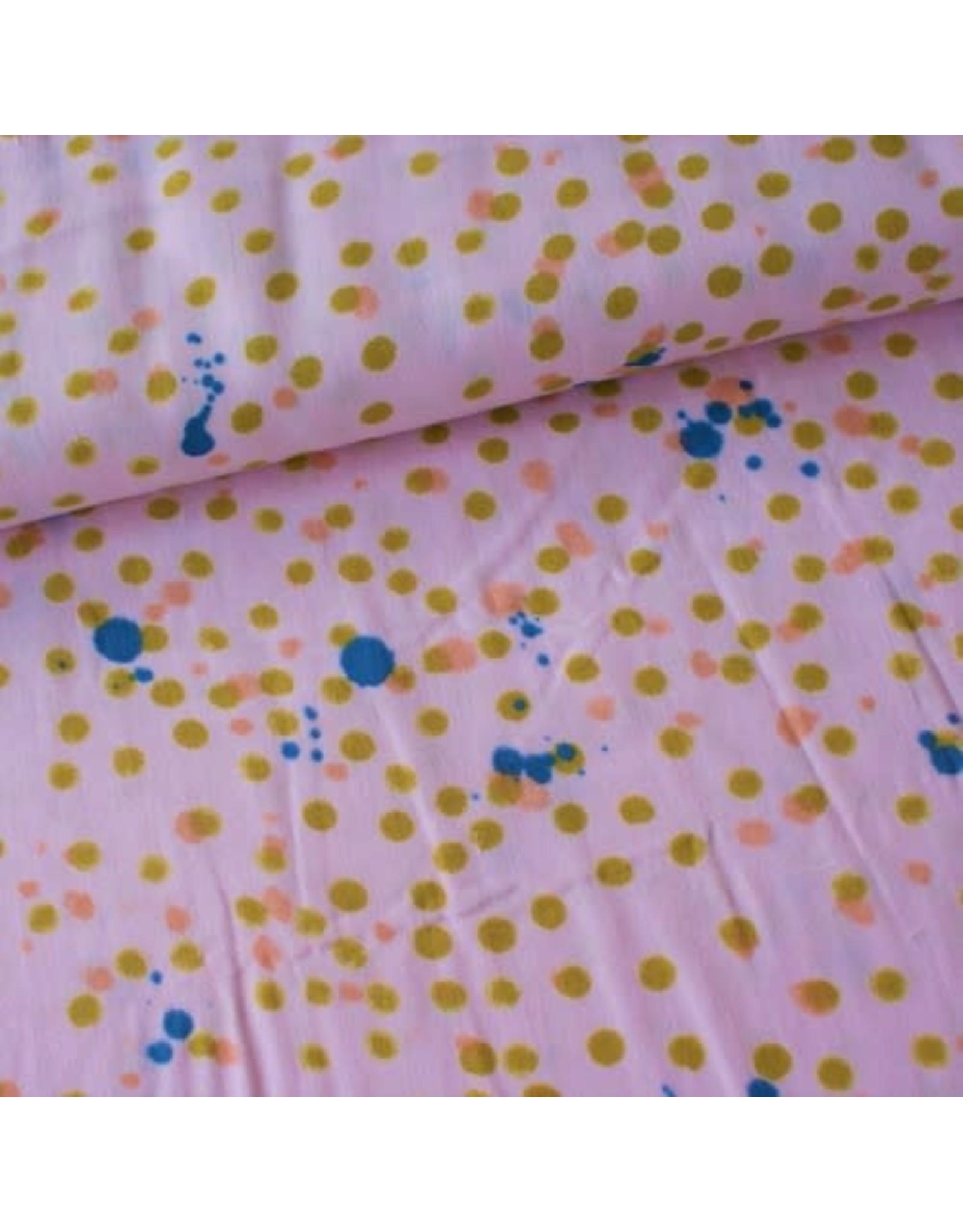 Rico Design Roze dots olive tetra
