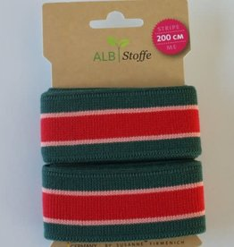 Alb stoffe Stripe me groen roze rood