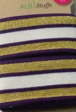 Alb stoffe Stripe me paars goud ecru