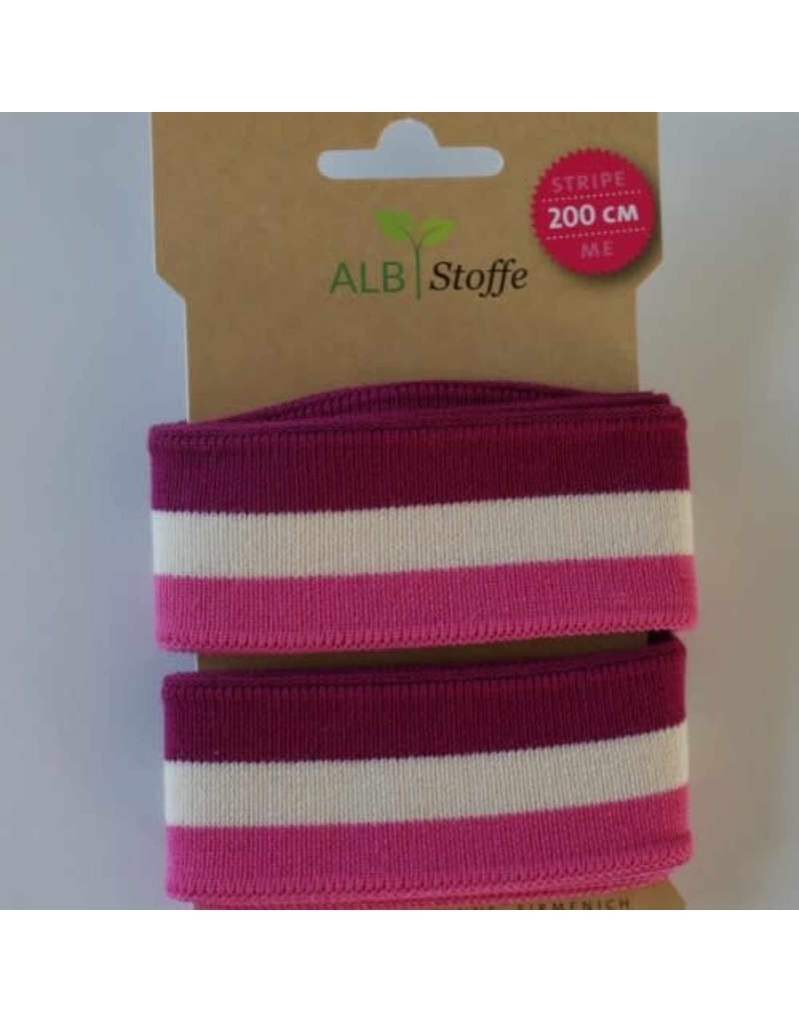 Alb stoffe Stripe me roze beige fushia