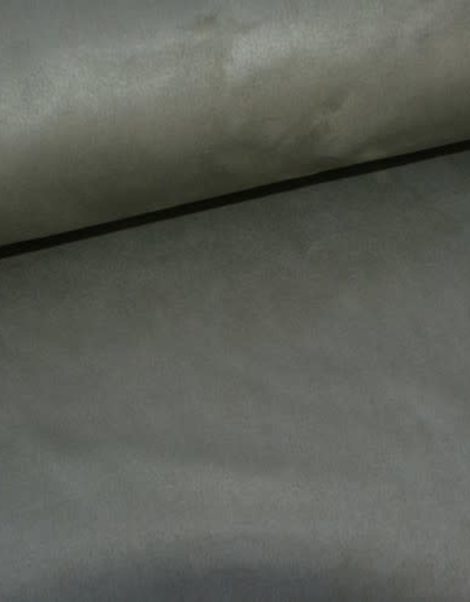 Stik-Stof Suede scuba olijfgroen