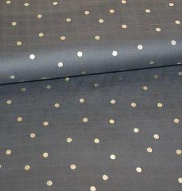 Rico Design Tetra grijs dot hot foil