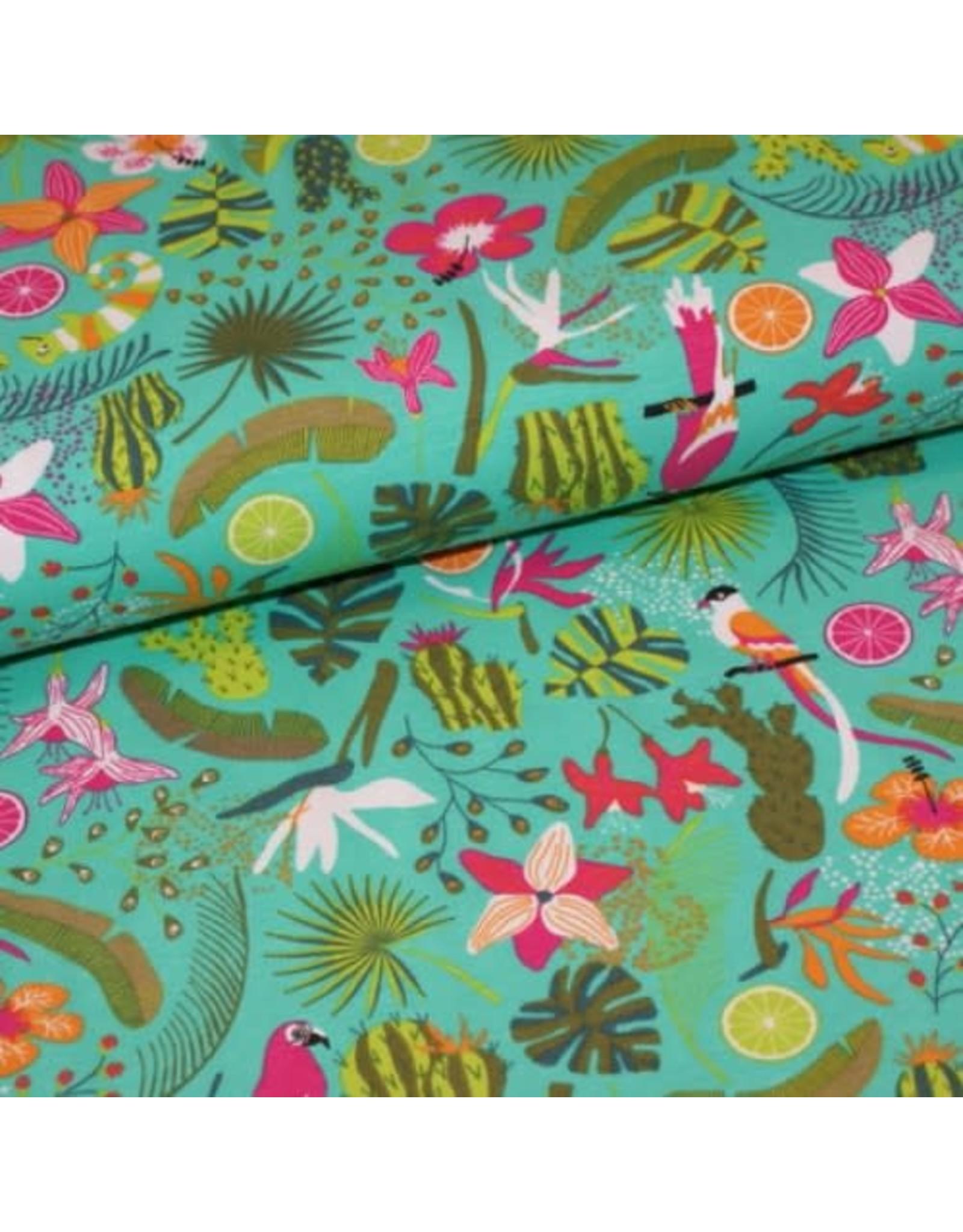 Polytex Tropical print COUPON 1m