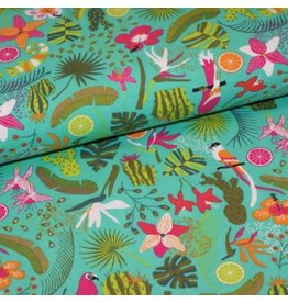 Polytex Tropical print COUPON 1m