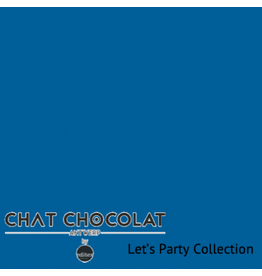 Chat Chocolat Uni viscose let's party blue