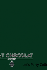 Chat Chocolat Uni viscose let's party dark green