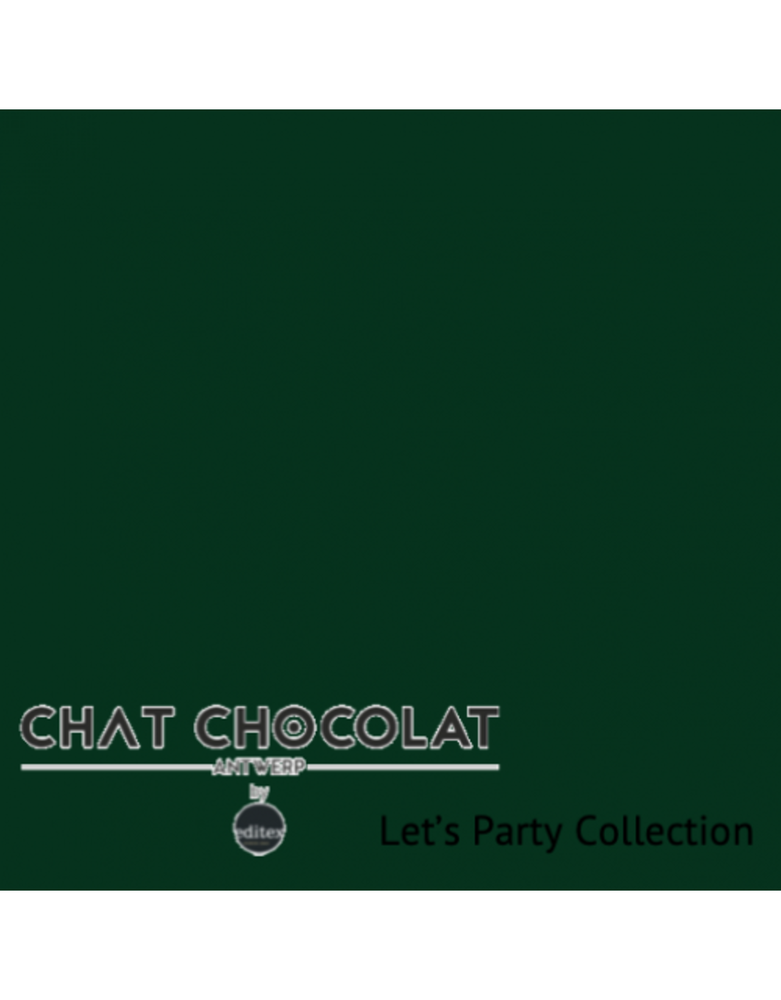 Chat Chocolat Uni viscose let's party dark green