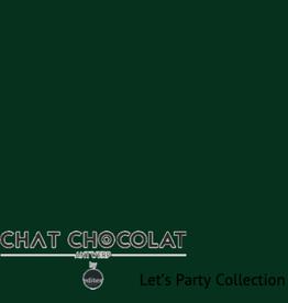 Chat Chocolat Uni viscose let's party dark green COUPON 1.80 meter