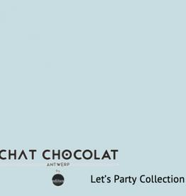 Chat Chocolat Uni viscose let's party light blue