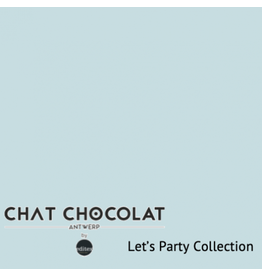 Chat Chocolat Uni viscose let's party light blue