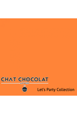 Chat Chocolat Uni viscose let's party orange