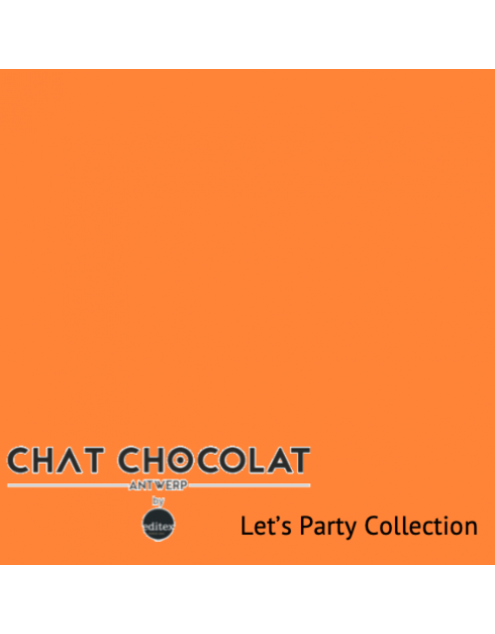 Chat Chocolat Uni viscose let's party oranje