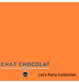 Chat Chocolat Uni viscose let's party orange